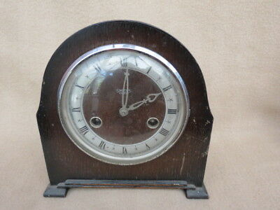 Small Vintage Smiths Enfield Striking Mantel Clock For Tlc