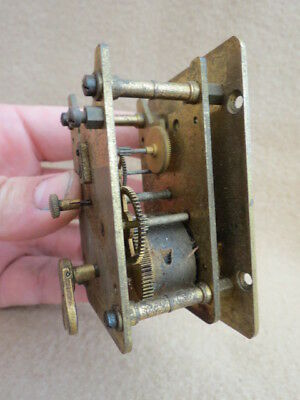 Small Vintage Davall 8 Day Clock Movement For Spares