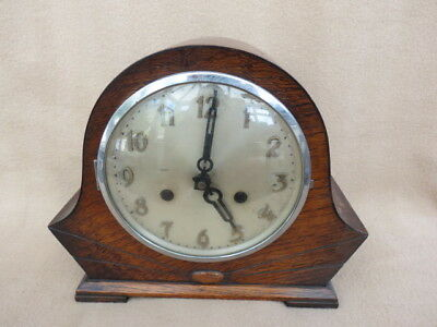Vintage Art Deco Striking Mantel Clock For Tlc