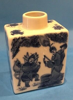 Chinese Tea Caddy Blue And White Unknown Date Or Markings