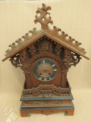 Very Large Antique Table Cuckoo Clock For Restoration
