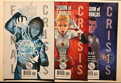 Legion of 3 Worlds # 1, 2 & 3 Character Variants Final Crisis Geoff Johns Perez