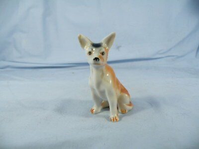 Vintage Chihuahua Hand Painted Bone China Figurine