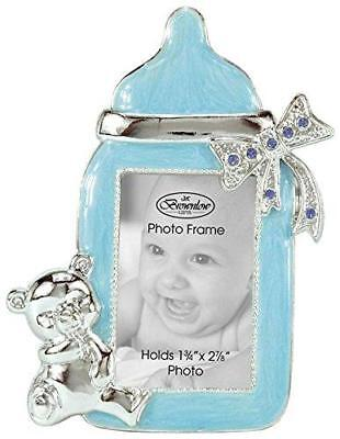 Jeweled Brownlow Kitchen Blue Baby Bottle Baby Boy Picture Frame Keepsake Gifts