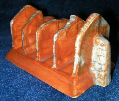 Collectors Ceramic Toast Rack,  Looks like Grave stones ,Shorter & sons pottery.