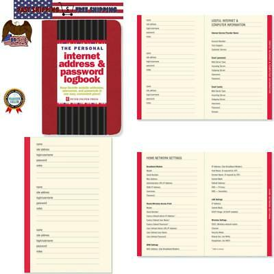 Password Booklet Address Book For Passwords Keeper Internet Manager Notebook NEW