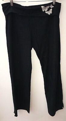 Ladies Black Maternity Jogging Bottoms Size 14 Mode Mothercare<NH8348