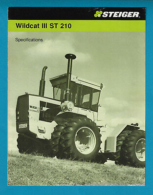 Steiger Wildcat 111 St 210 Tractor 4 Page Specifications Brochure