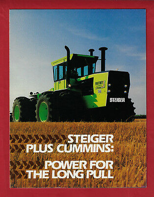 Steiger Cummins Couger Panther Tiger Tractors 6 Page Foldout Brochure