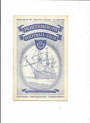 Portsmouth v Grimsby Town FA Cup 3rd Round 7/1/1956