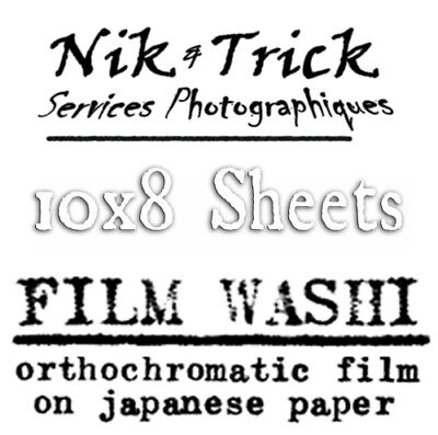 Washi Film - Handmade Film on Japanese Paper - 10x8 Sheets - Pack of 6