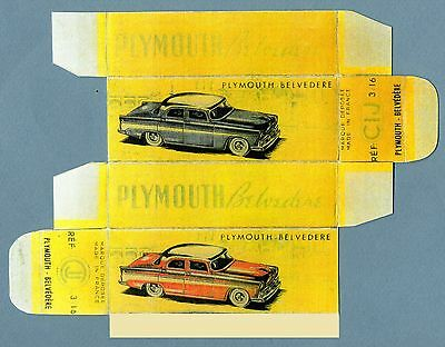 CIJ 3/16 : PLYMOUTH - BELVEDERE cij 3 16 box boite repro refabrication copie