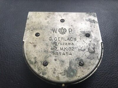 POLISH  WW2  COMPASS  G. GERLACH  wz.K.M.32 POLAND  made in  WARSZAWA BEFORE WW2