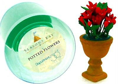 Dept. 56 Seasons Bay Potted Flowers RED Spring Summer 53331 New