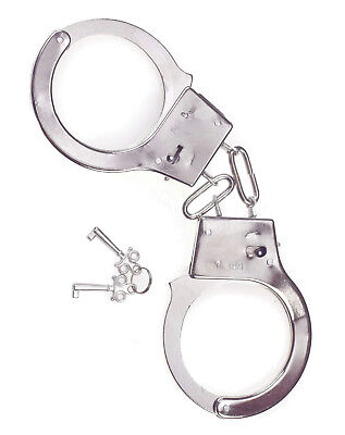 Handcuffs Hand Cuffs Metal Police Cop Costume Accessory