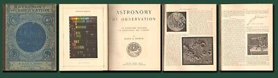 1890 ASTRONOMY BY OBSERVATION: Bowen/Planets/Nebulae/109 Ill./Sky Maps/Free Ship