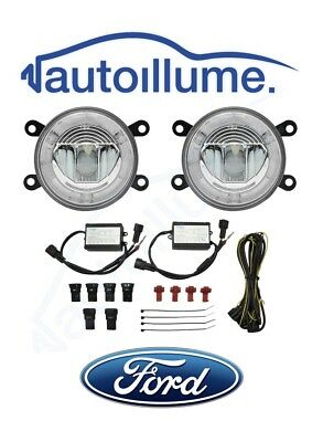 FORD Fiesta Mk7.5 Mk7 Mk6 Focus ST ZETEC S ZS LED DRL Angel Eye Fog Light Kit