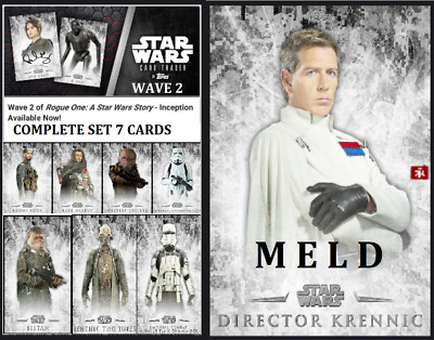 Topps Star Wars Card Trader Rogue One Inception Wave 2 [Set 7 + Meld Krennic]