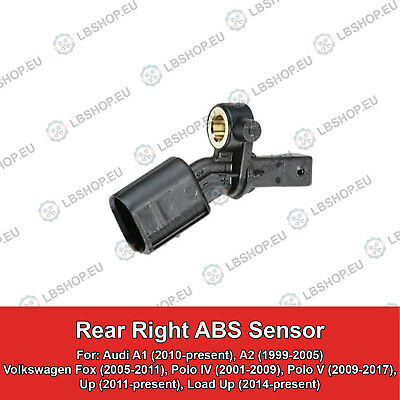 Rear Right ABS Sensor For Audi A1 A2 Volkswagen Polo Fox Load Up