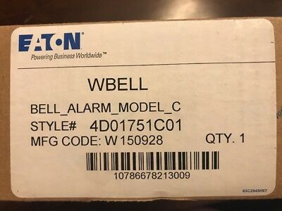Eaton - Wbell Bell Alarm Model C - Style #4D01751C01 - New In Box