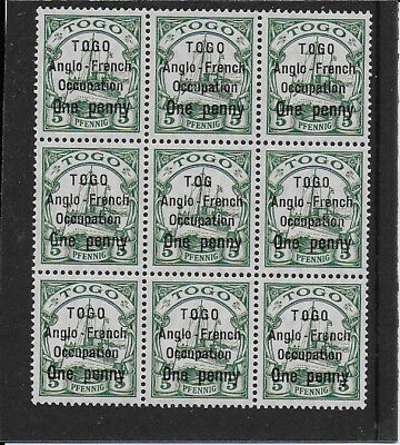 TOGO 1914  1d on 5pf  SGH28 unmounted block
