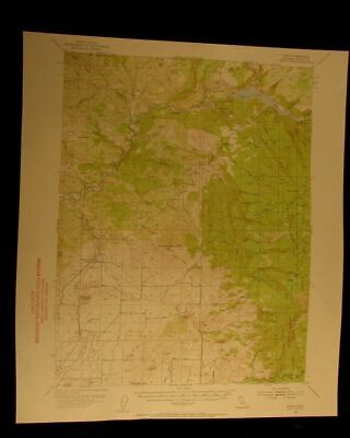 Copco California 1956 vintage USGS Topographical chart map