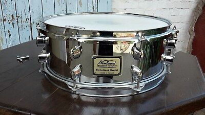 """Snare, 14"""" x 6"""", Stahlkessel, New Sound"""