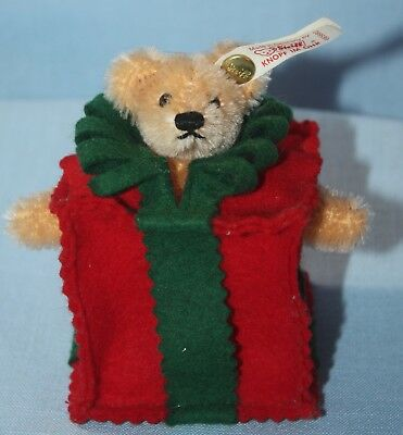 STEIFF Christmas Bear ~ Miniature ~ All Wrapped Up ~ Limited Edition ~665882