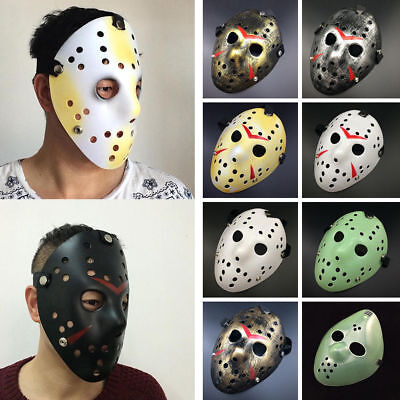 Jason Voorhees Freitag 13. Deluxe Halloween Horror Hockey Maske Cosplay Kostüm
