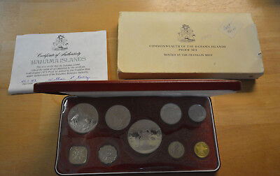 1973 Sterling Silver Commonwealth of The Bahama Islands Proof Set in Box w/COA