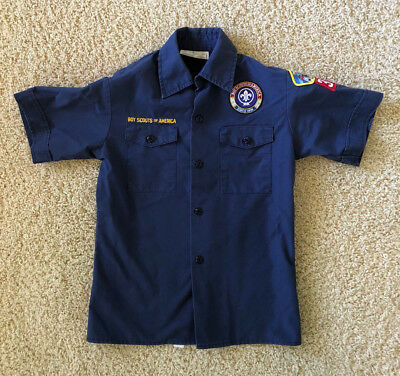 Official BSA CUB SCOUTS Short Sleeve Uniform Shirt Y Med Free Shipping!