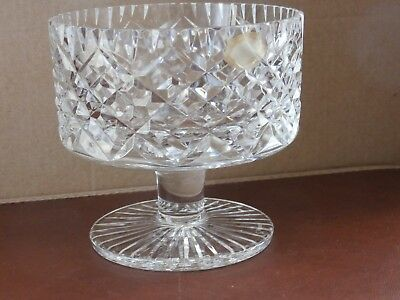 """Irish Tyrone Crystal Footed """"CARRICKMORE"""" Bowl - Ex Cond"""