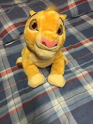 """Disney Store Simba Plush Soft Toy from The Lion King 14"""" Stamped"""