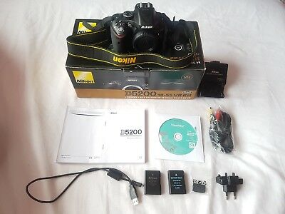 Nikon D5200 BODY With Box And Accessories LOW SHUTTER 14751 EXCELLENT CONDITION