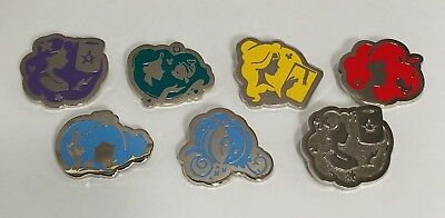 Disney Pin 2018 Hidden Mickey Series Princess Silhouette Set With Completer DLR