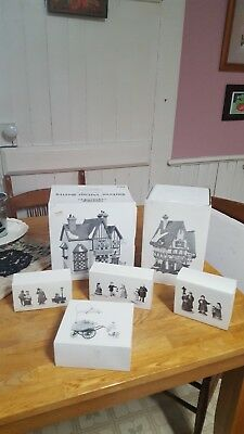 DEPT 56 Mixed Lot of 8 HERITAGE VILLAGE COLLECTION Dickens Village Series Items