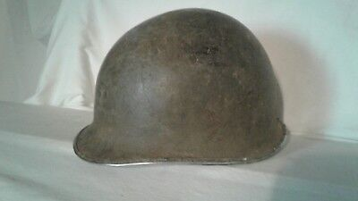 Original WWII US  M1 Helmet Fixed Bale Front Seam With Liner project