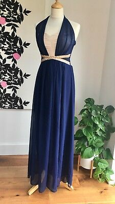 Little Mistress Vintage Inspired Occasion / Evening Maxi Dress Size 10