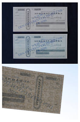 CZECH TEST CHEQUES 2016 - OFFICIAL STATE PRINTING 2 diff. colors -  UNC !!