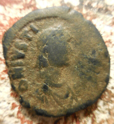 Ancient Byzantine Empire Bronze Coin Justin I, 518-527 AD! Full ID Envelope!