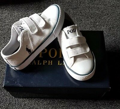 super popular 6406f c57c7 Polo Ralph Lauren White Kids Trainers   Shoes size UK 10 boxed like new