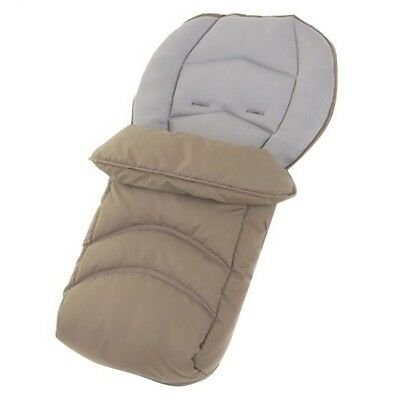 Hauck Universal Cosy Toes/ Footmuff For Pushchair/buggy, Fleece Lined, Beige