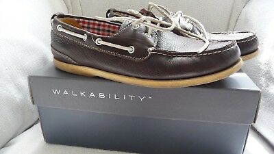Rockport Boxed Brown 2 Eye Deck Shoes Size 8