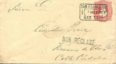 Argentina,1886, stationery cover 8ct
