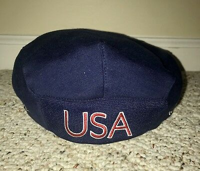 ca940191d067ad Official Team USA Hat 2004 Olympics Roots Navy Blue Red White Beret Small  Medium