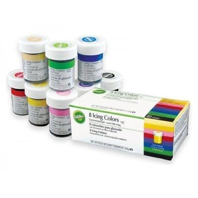 Wilton Icing Colour Concentrated Paste Gel for Food Cake Cup Cupcake Pack of 8