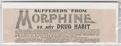 1899 Morphine cure quack medicine Antique print advertisement