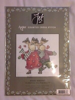 """Anchor 'Reindeers' Counted Cross Stitch Kit: Size Approx 6""""x6""""- Unopened"""