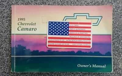 Owner's Manual Chevrolet Camaro (1995), Betriebsanleitung US-Version, englisch