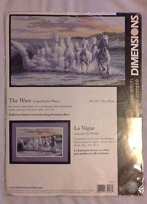 Dimensions 'The Wave' Counted Cross Stitch Kit - Unopened